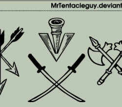 Heraldic Weapons Vector