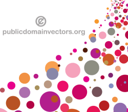 Colorful Circles Background Design Vector