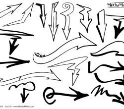 Free Arrows Vector Graphics Set 10