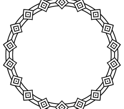 Vector Deco Border Circle Frame Design