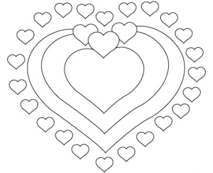 Valentine's Day Heart Drawings