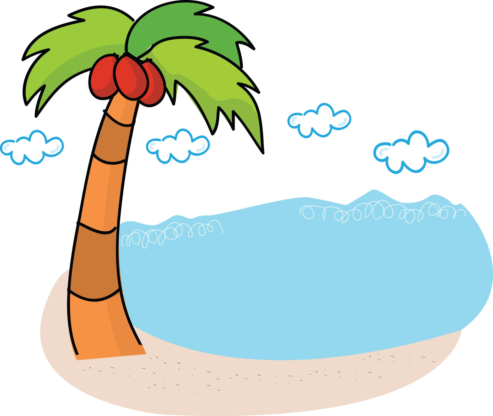 hight resolution of free clipart palm tree