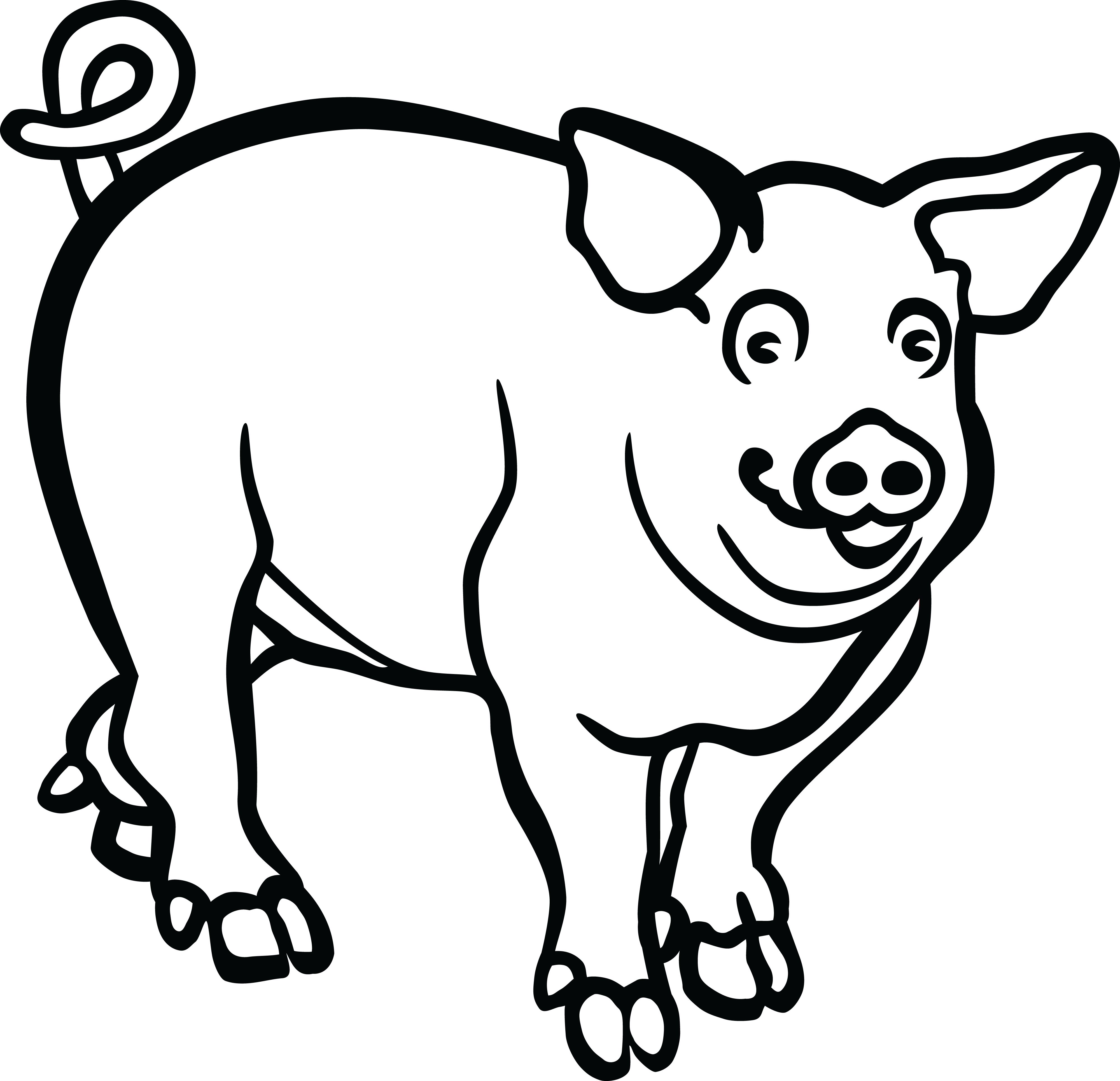 Free Clipart Of Pig