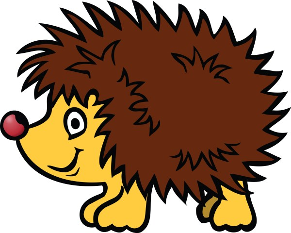 free clipart of hedgehog