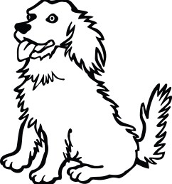 free clipart of a dog 00011485  [ 4000 x 4329 Pixel ]