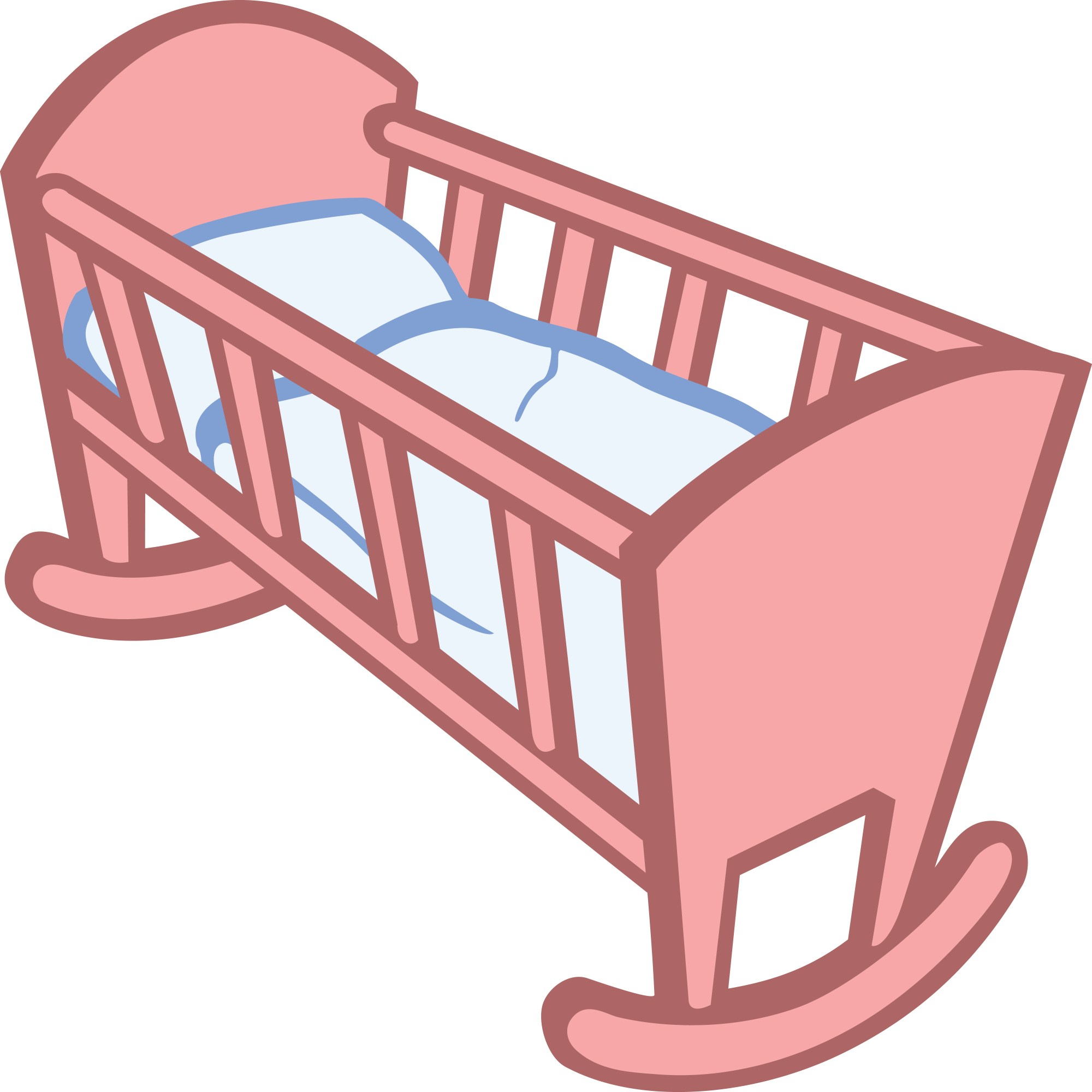 hight resolution of free clipart of a baby crib 00011650