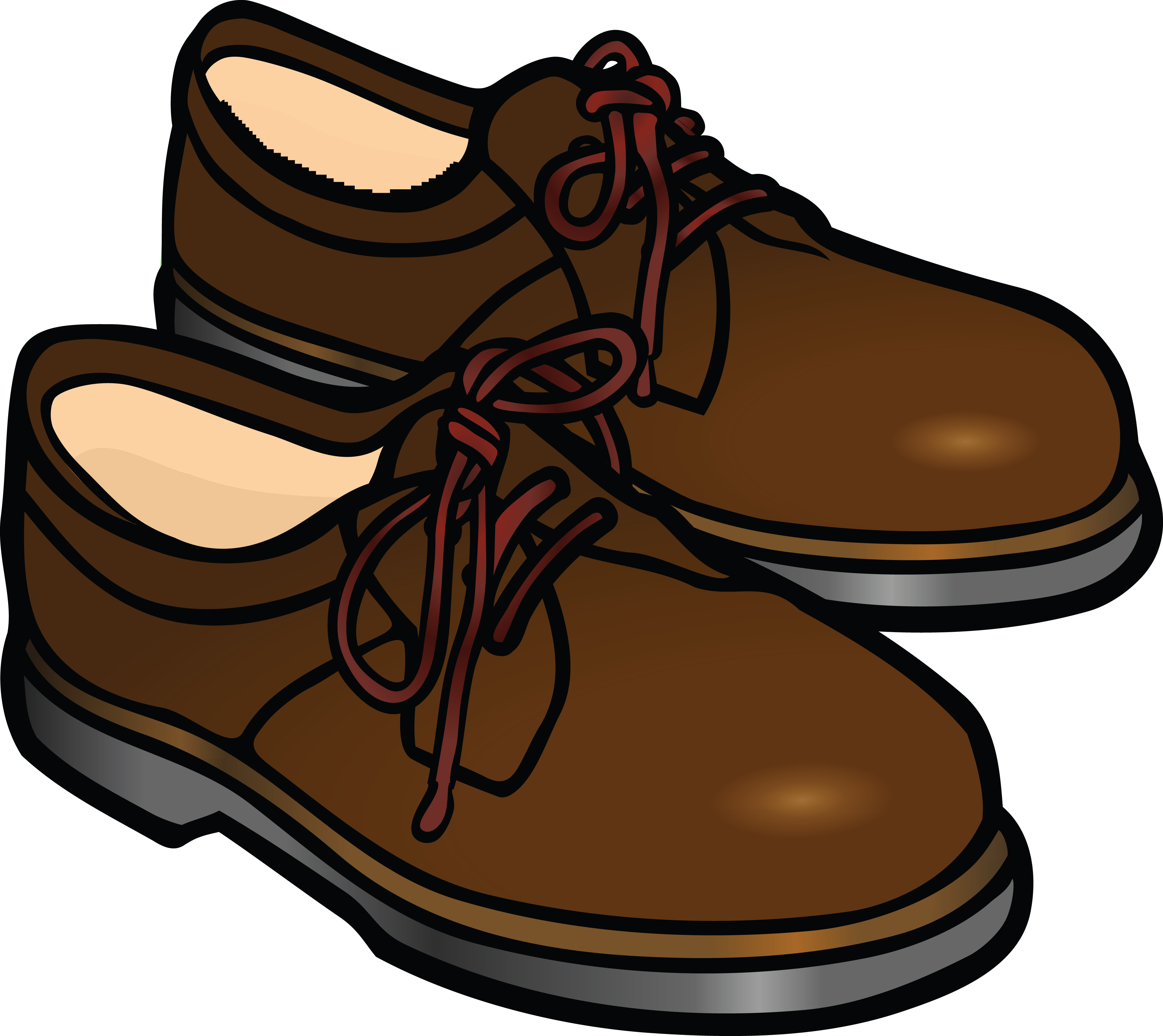 Free Clipart Of A Pair Of Mens Shoes