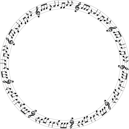 small resolution of free clipart of a music note frame 00011733