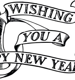 free clipart of a bell hourglass and happy new year banner 00011822  [ 4000 x 1918 Pixel ]