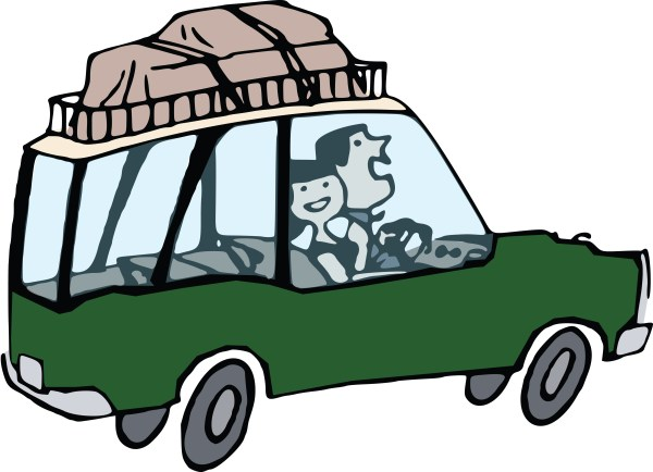 free clipart of couple road