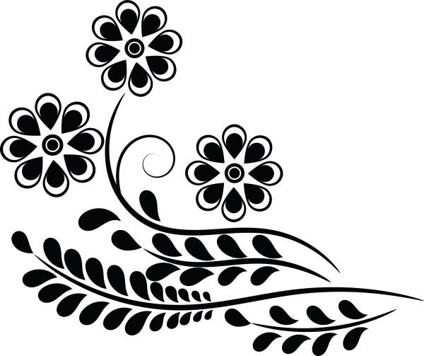 free clipart of flower design