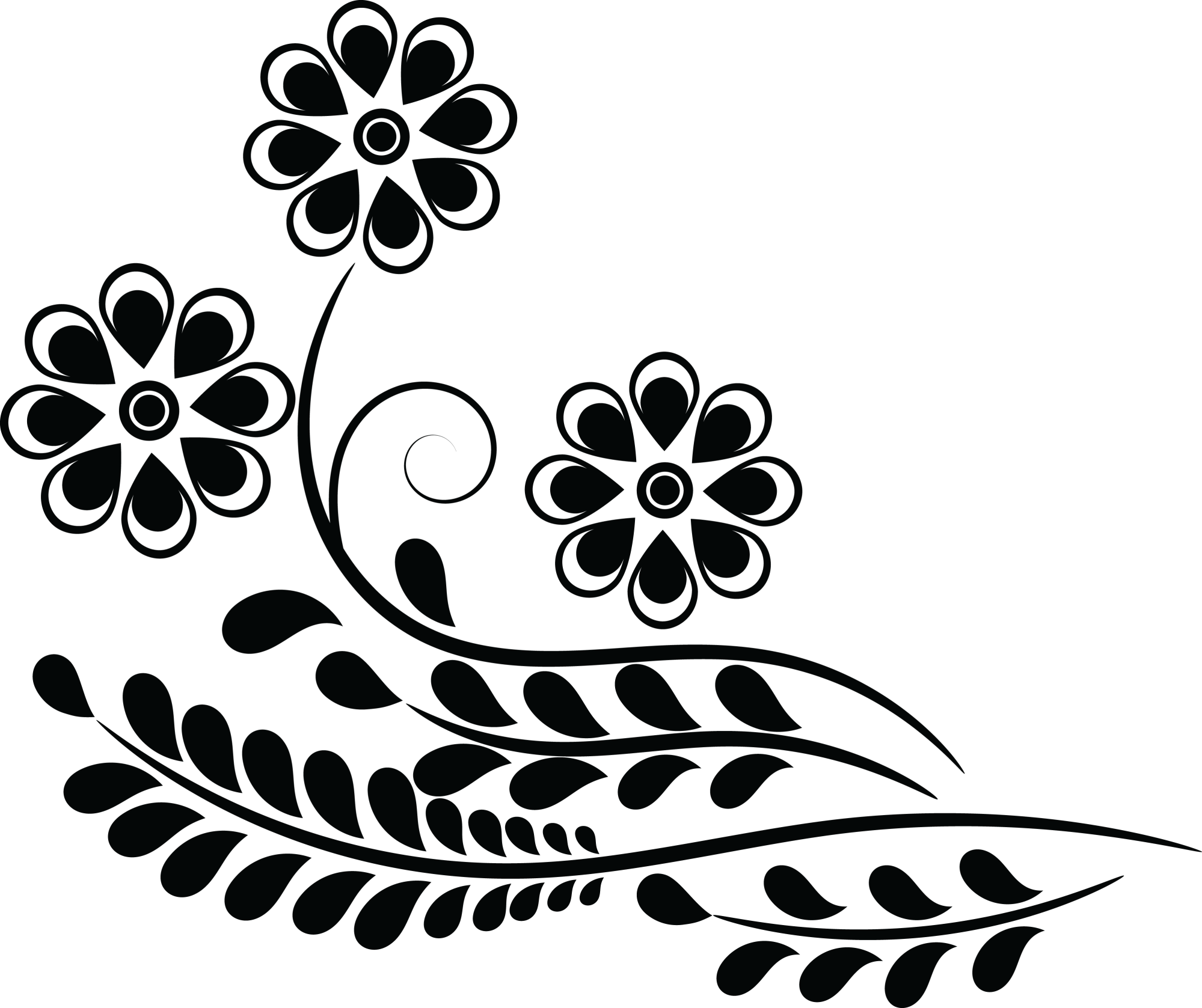 hight resolution of  eps svg free clipart of a flower design
