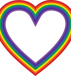 eps svg free clipart of a rainbow heart [ 4000 x 3746 Pixel ]