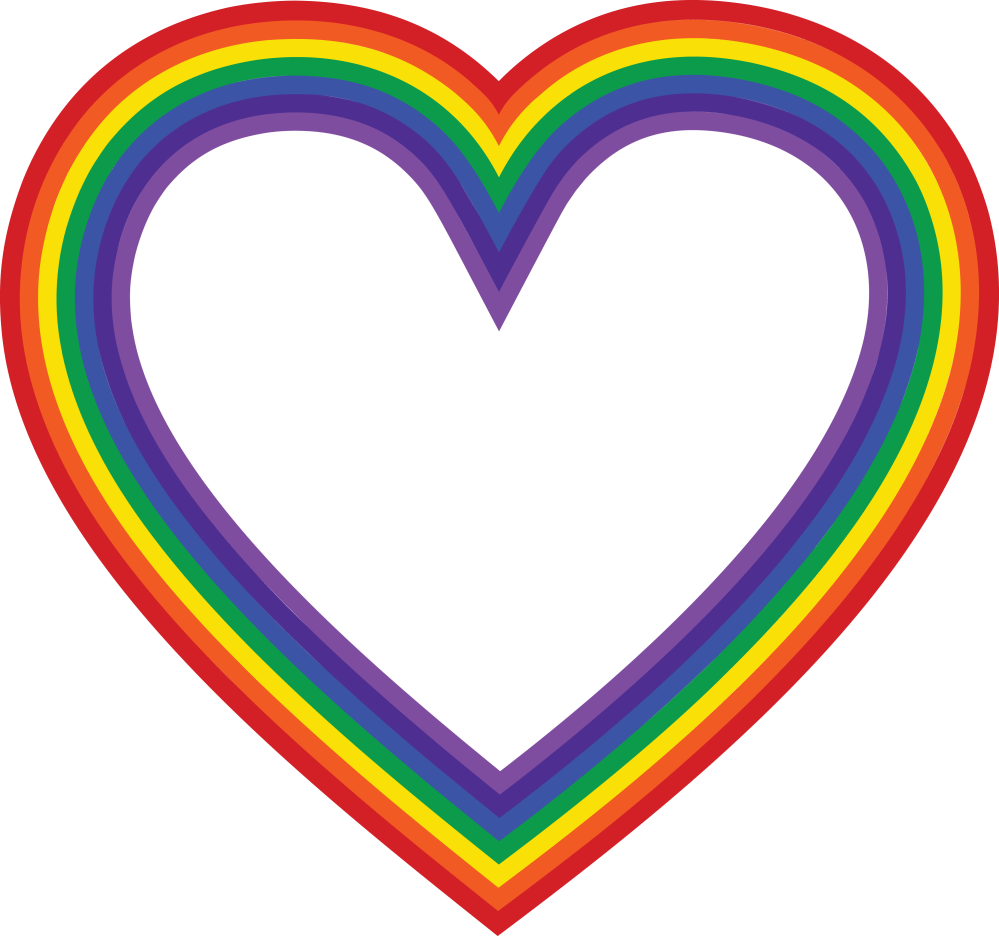 medium resolution of  eps svg free clipart of a rainbow heart
