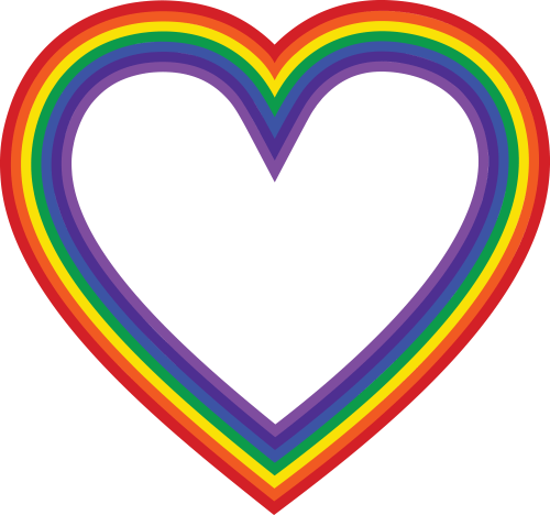 small resolution of  eps svg free clipart of a rainbow heart
