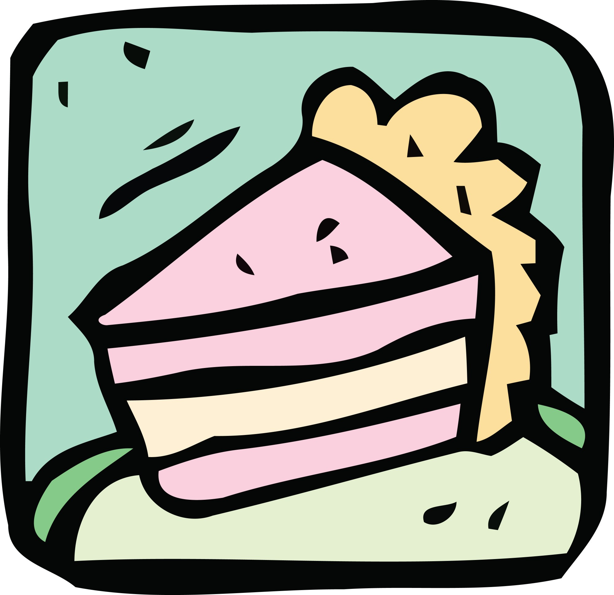 hight resolution of free clipart of a cake slice 00012070