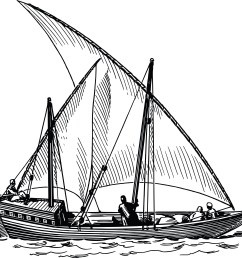 free clipart of a sailing ship 00012105  [ 4000 x 3827 Pixel ]