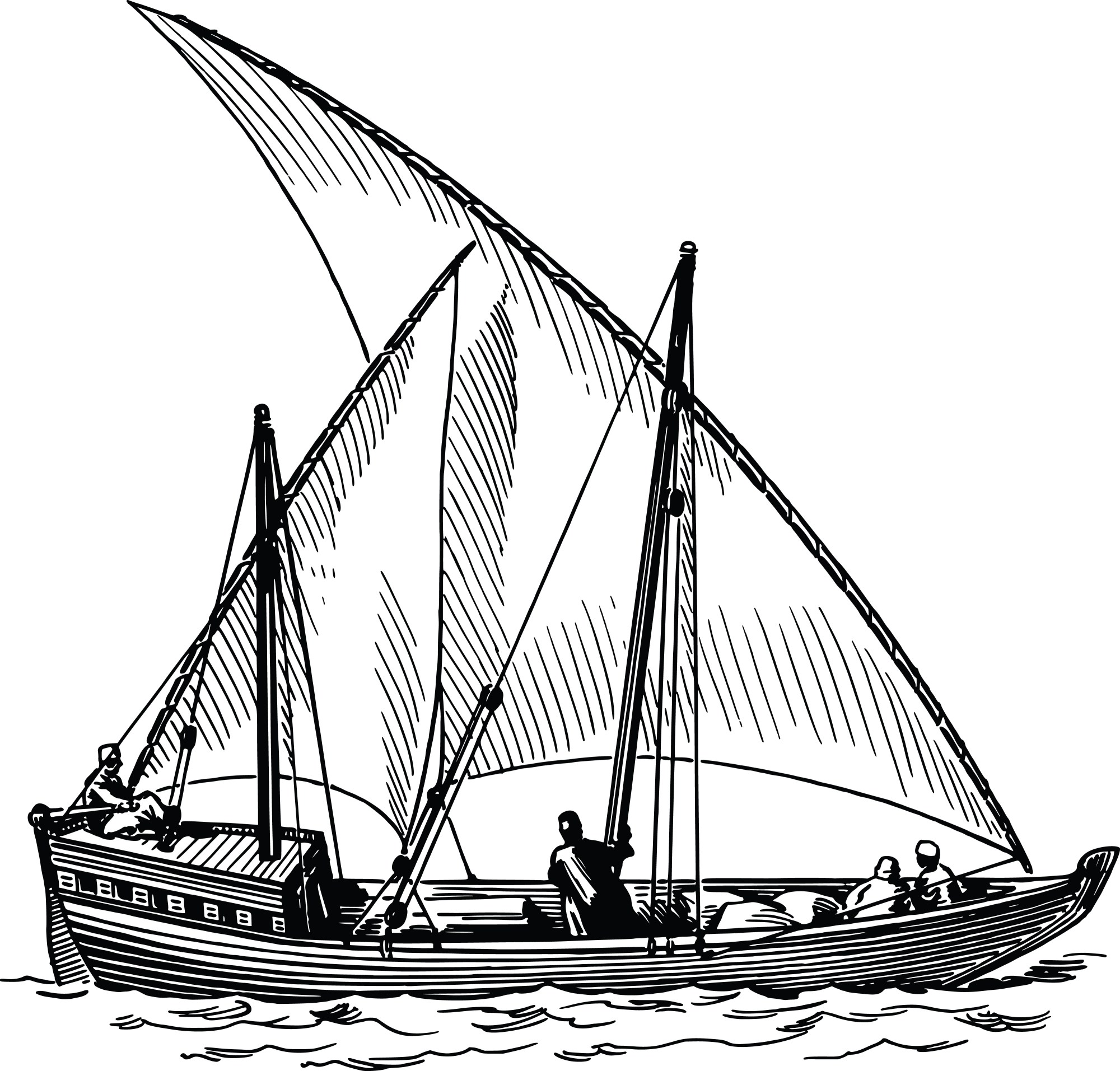 hight resolution of free clipart of a sailing ship 00012105