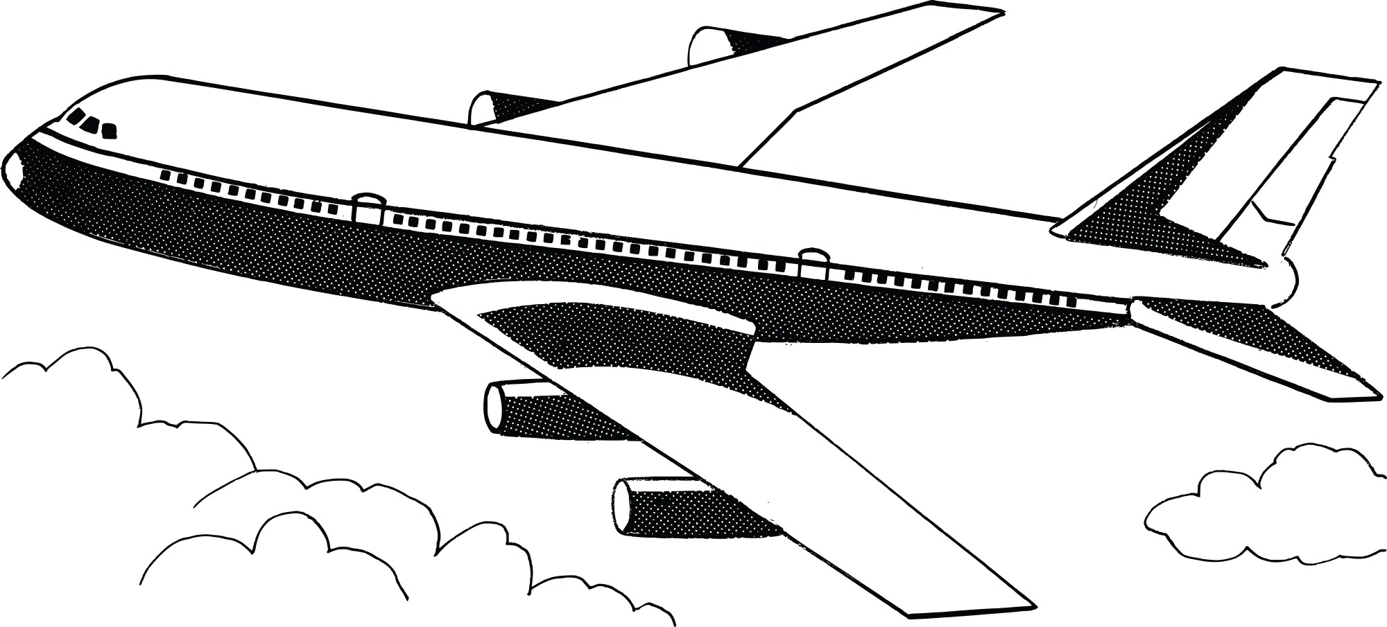 hight resolution of clipart plane