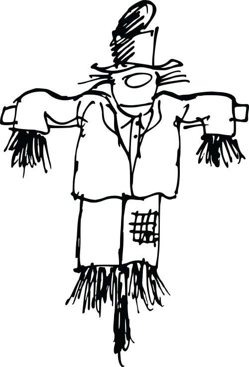 small resolution of scarecrow clipart free