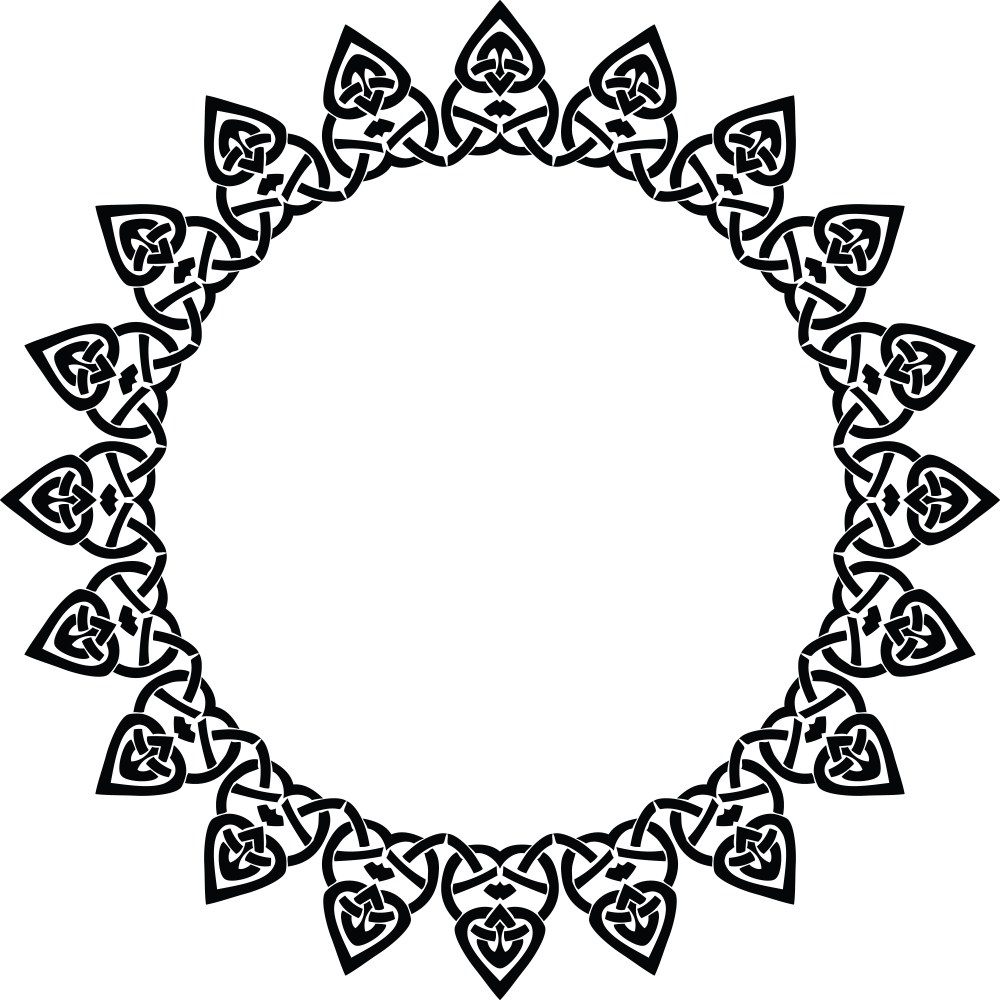 medium resolution of free clipart of a celtic round frame border design element in black and white knots