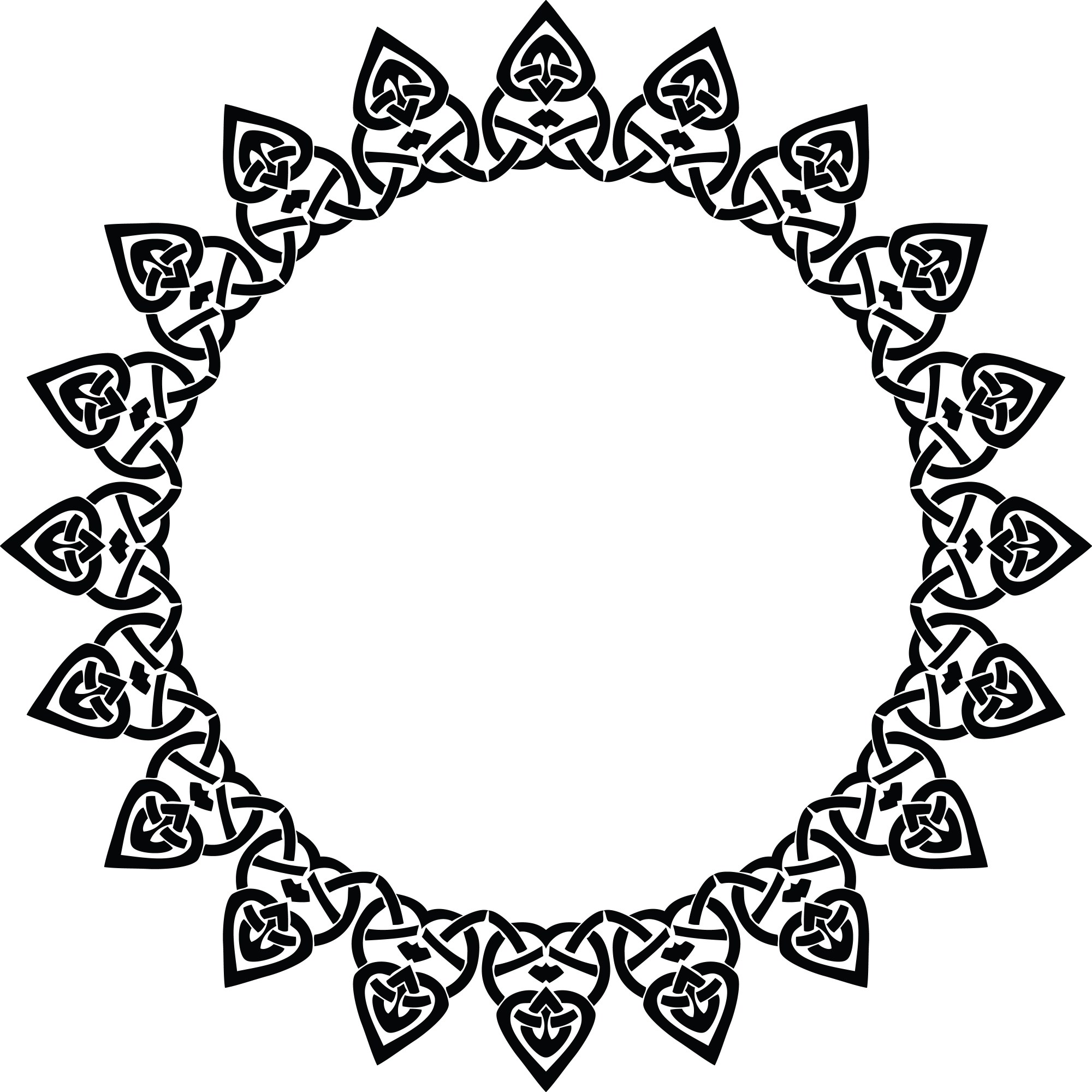 hight resolution of free clipart of a celtic round frame border design element in black and white knots