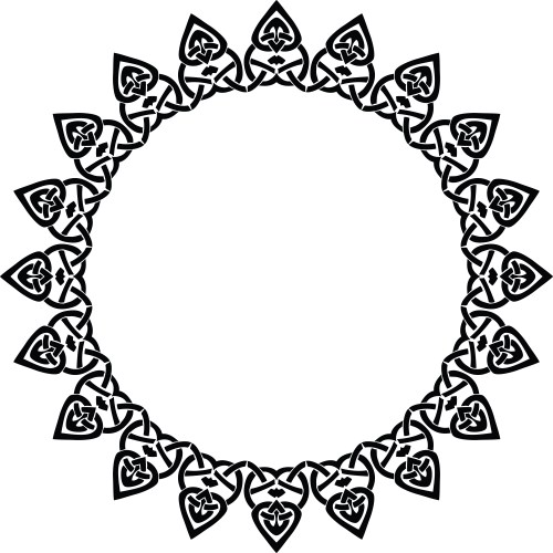 small resolution of free clipart of a celtic round frame border design element in black and white knots