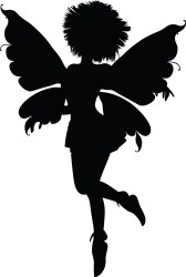 fairy silhouette clipart fairies vector haired angel clip female hair svg spiky flying disney tooth godmother silhouetted spiked transparent woman