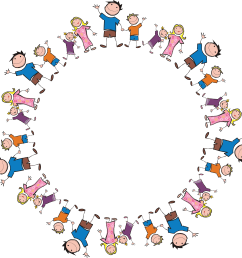 free clipart of a round frame made of stick family members 0001409  [ 4000 x 4002 Pixel ]