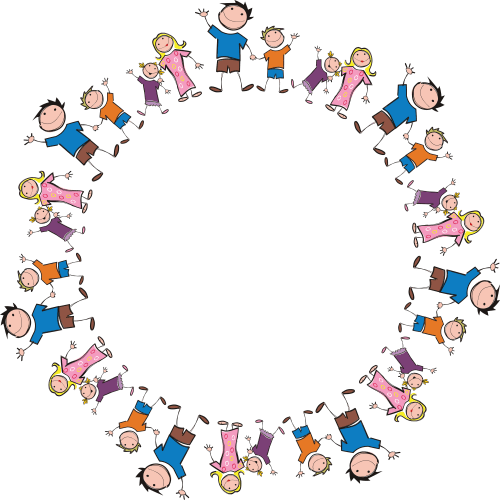 small resolution of free clipart of a round frame made of stick family members 0001409