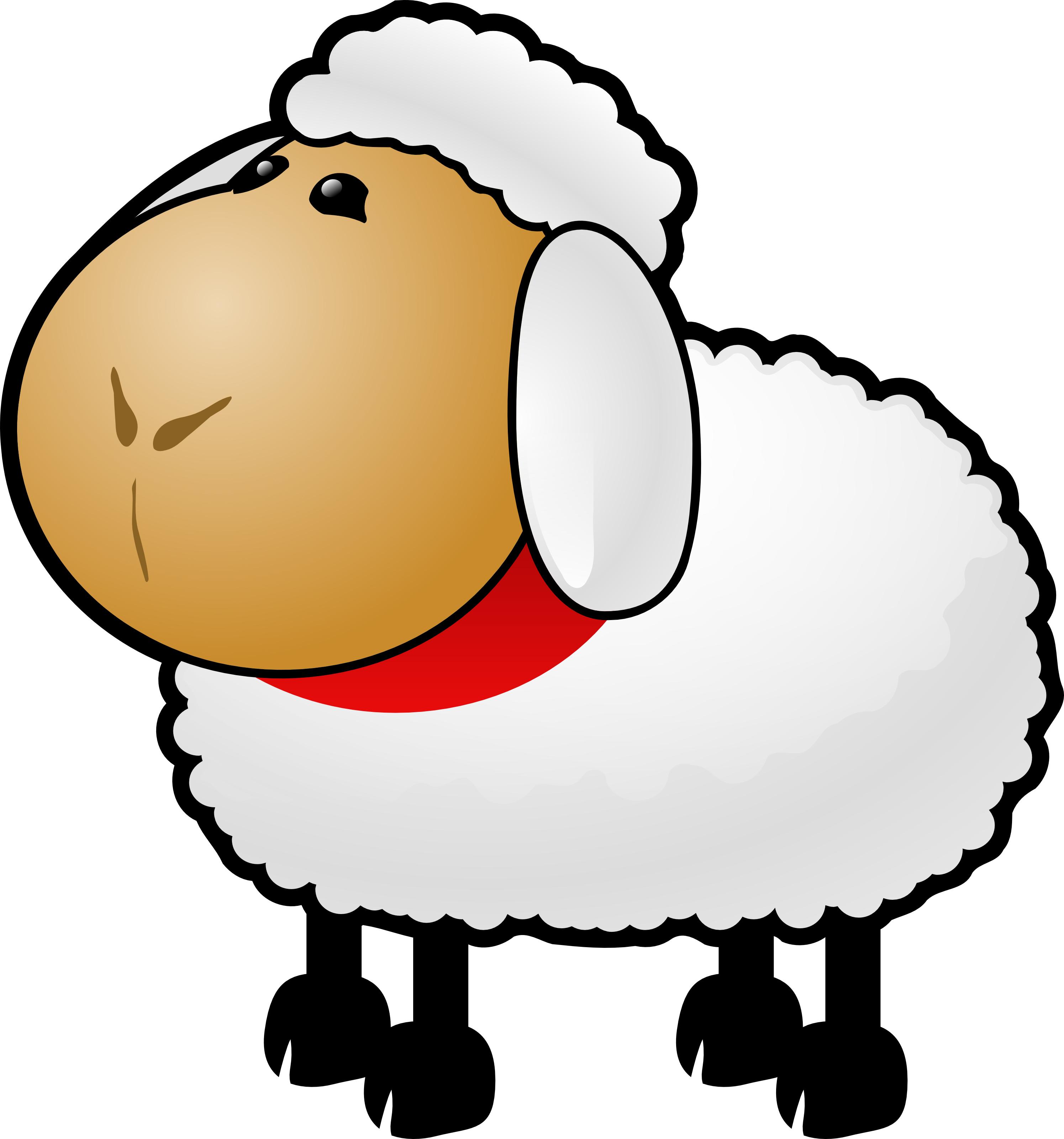 Free Cartoon Sheep Clipart Illustration