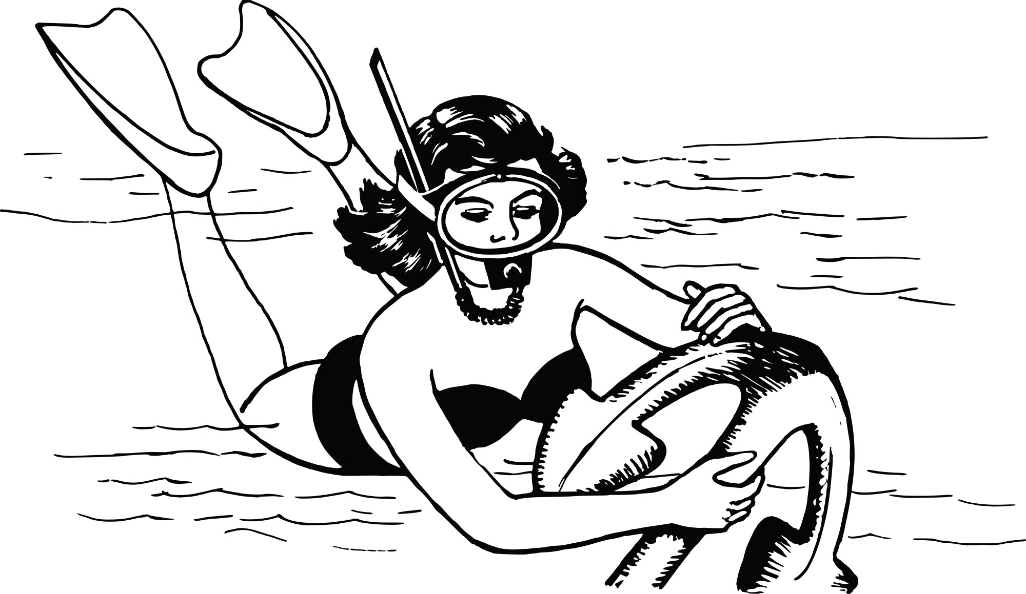 hight resolution of diver clipart