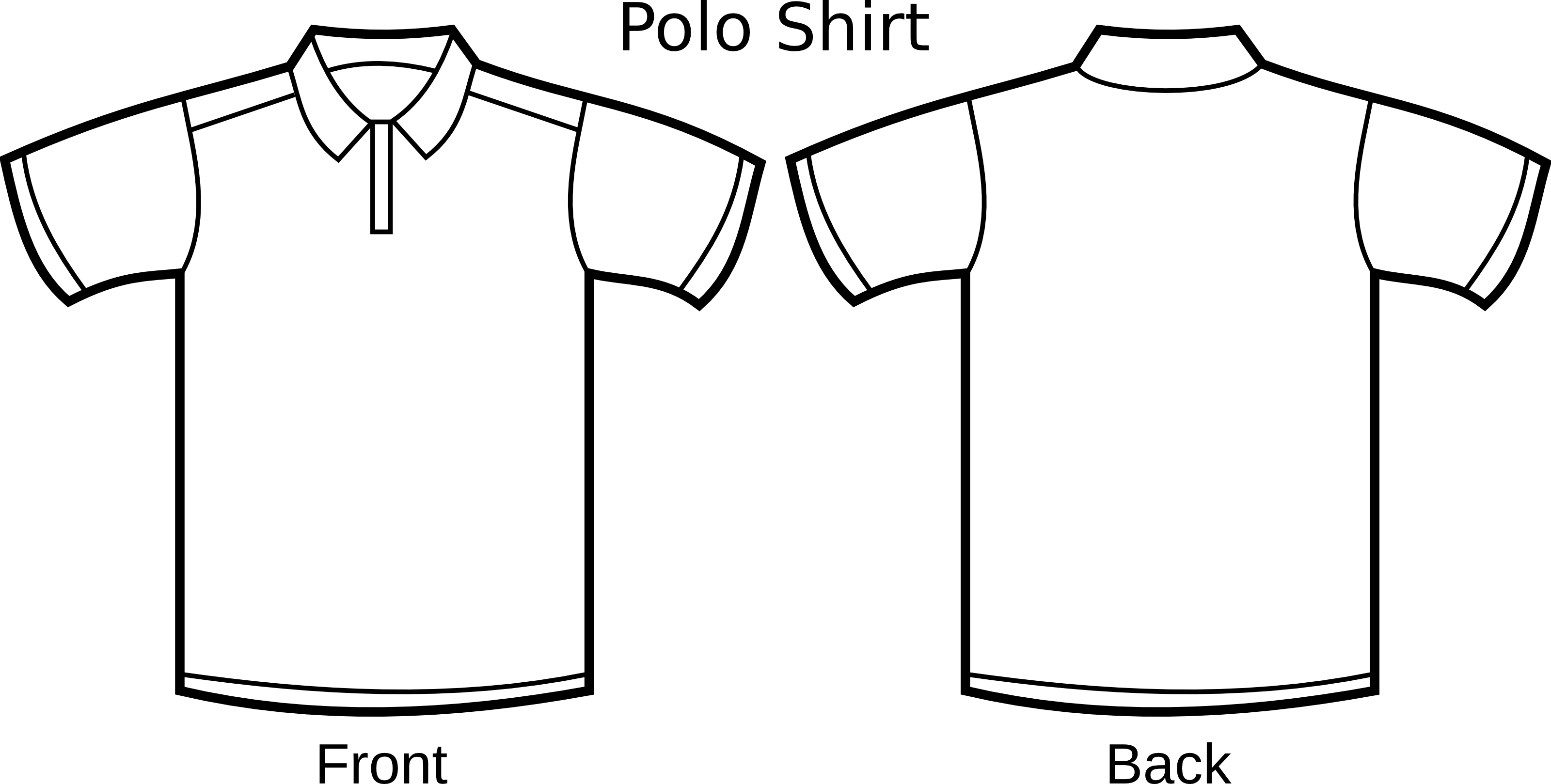 Free Polo Shirt Template Clipart Illustration