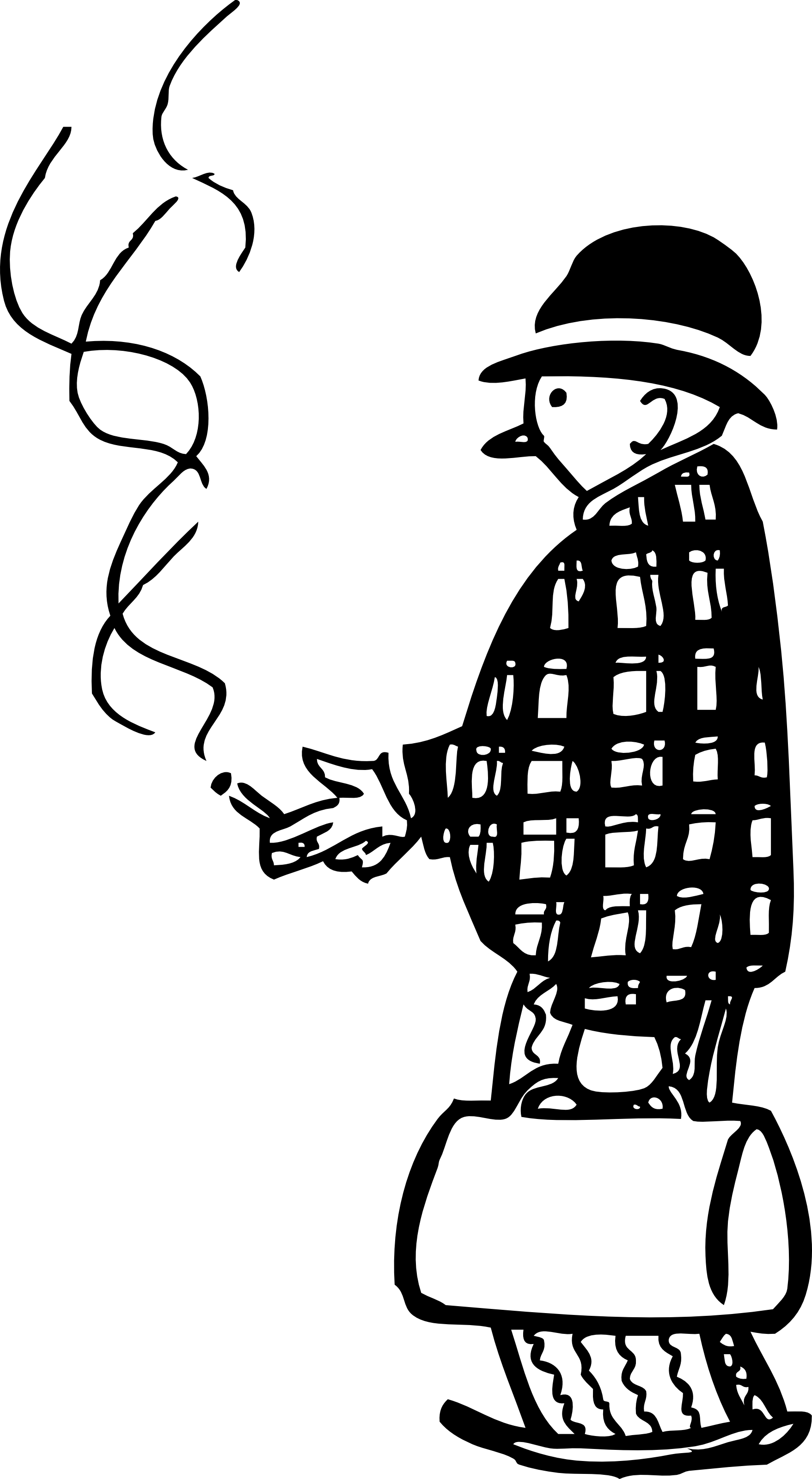 Free Retro Clipart Of a Family Doctor Smoking Cigar While