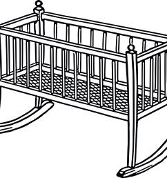 free clipart of a baby crib 0001728  [ 4000 x 3341 Pixel ]