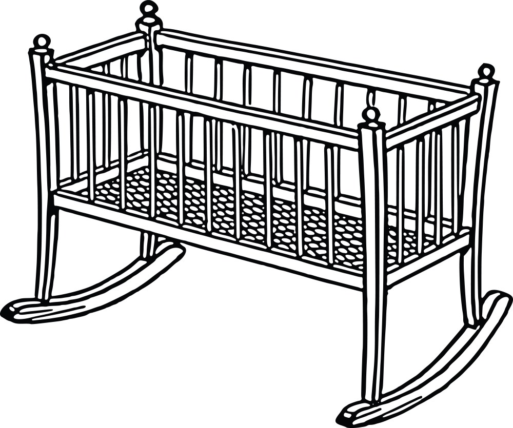 medium resolution of free clipart of a baby crib 0001728