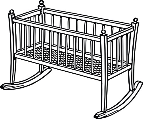 small resolution of free clipart of a baby crib 0001728