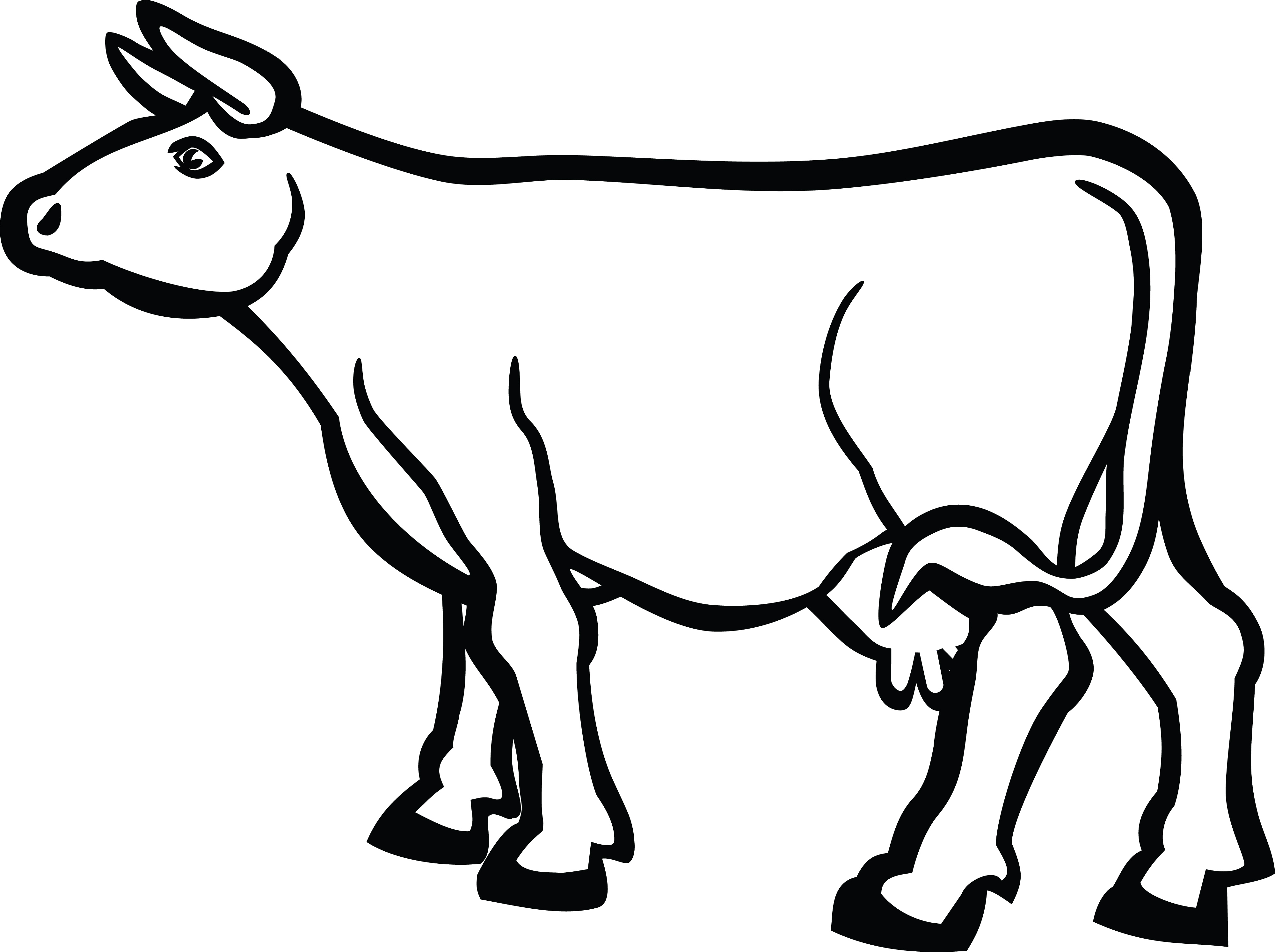 Free Clipart Of A Cow