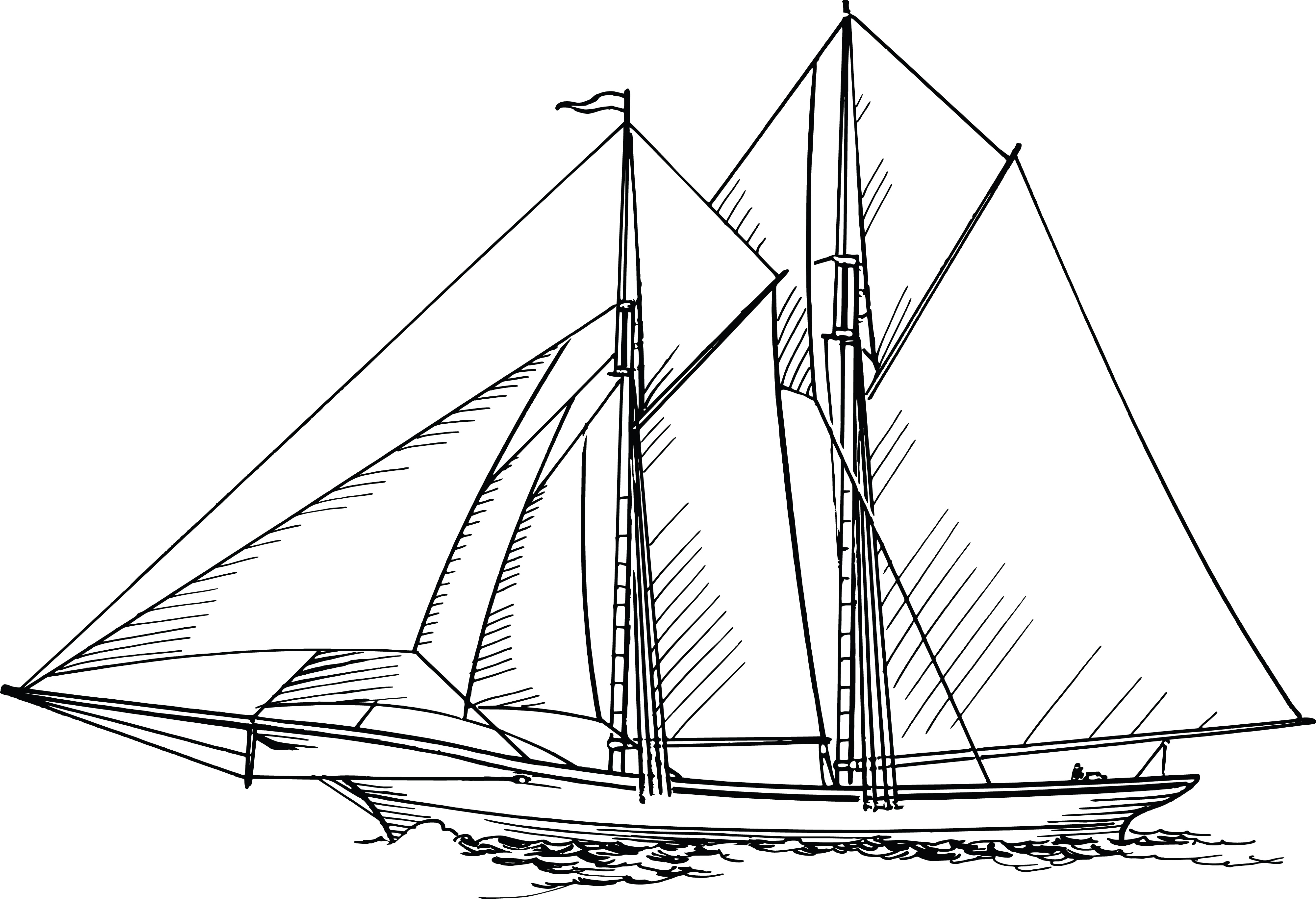 Free Clipart Of A Sailboat