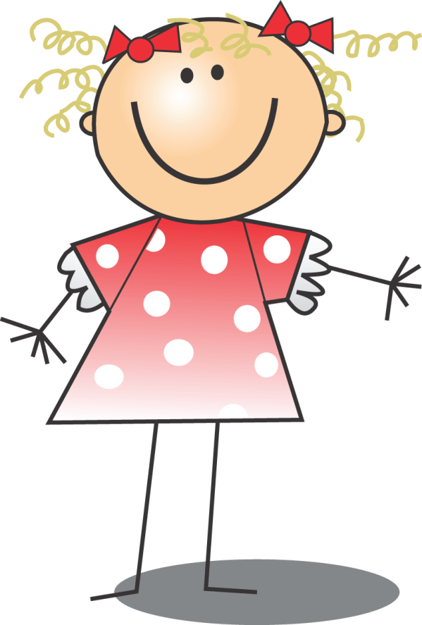 free clip art of happy blond