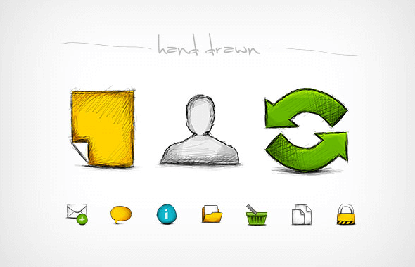 Hand-drawn Web Icon Set