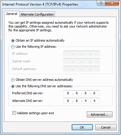 Google Public DNS 免費服務:8.8.8.8 和 8.8.4.4