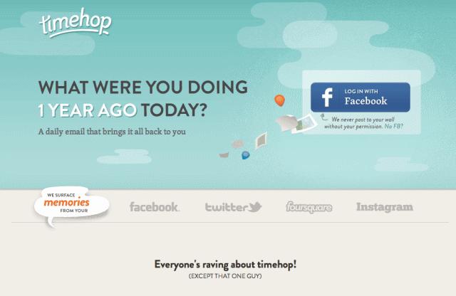 Timehop 臉書時光機,一年前的今天你在做什麼?