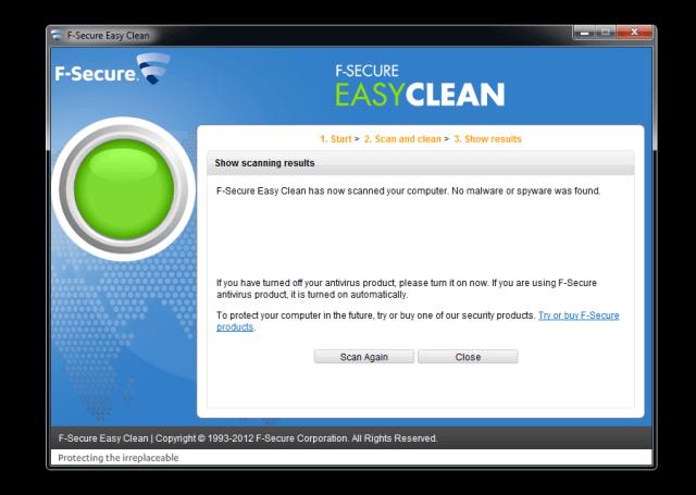 F-Secure Easy Clean 來自芬蘭的免費惡意程式清除工具
