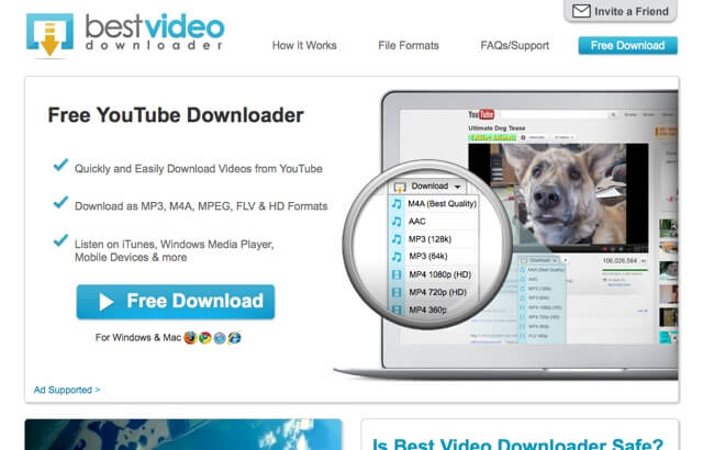 Best Video Downloader:為 YouTube 加入下載功能,支援 IE、Firefox、Google Chrome、Safari 四大瀏覽器