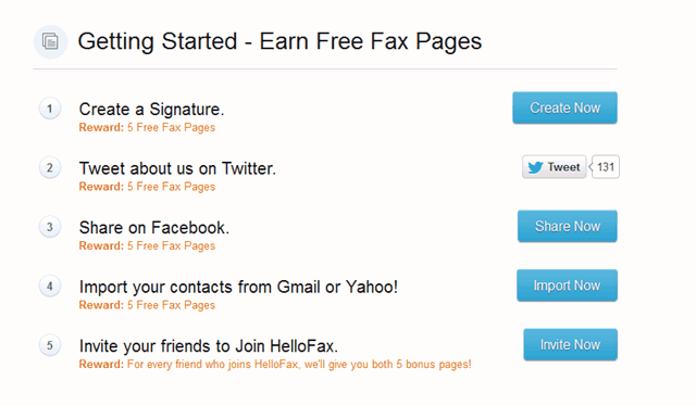 HelloFax:免費寄送傳真至世界各地(每月50頁配額)