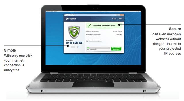Steganos Online Shield:VPN 連線加密軟體,限時免費升級 5 GB 流量 via @freegroup