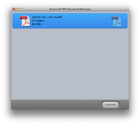 Aimersoft PDF Password Remover 移除 PDF 密碼保全,限時免費下載(Mac) via @freegroup
