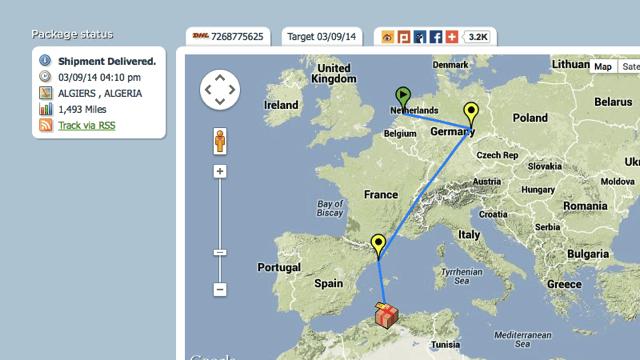 Boxoh 國際快遞追蹤服務,從 Google 地圖查詢包裹位置