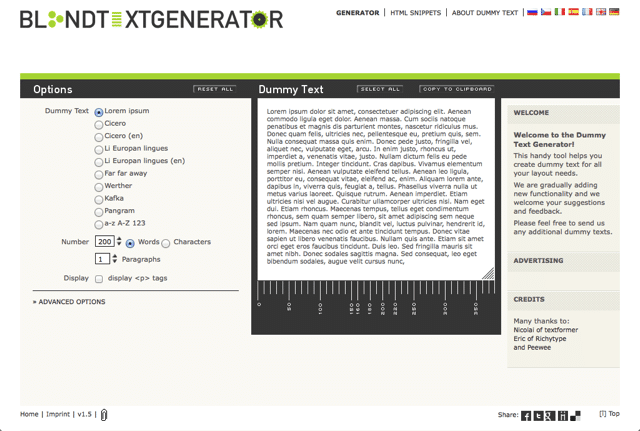 6. Blind Text Generator